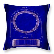 System Of Electrical Distribution Patent Drawing 1c Throw Pillow