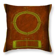 System Of Electrical Distribution Patent Drawing 1e Throw Pillow