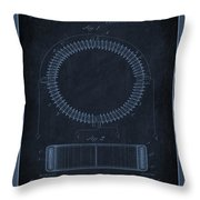 System Of Electrical Distribution Patent Drawing 1f Throw Pillow
