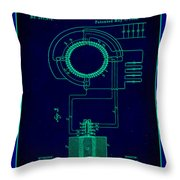 System Of Electrical Distribution Patent Drawing 2a Throw Pillow