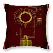 System Of Electrical Distribution Patent Drawing 2b Throw Pillow