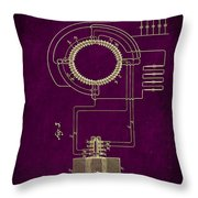 System Of Electrical Distribution Patent Drawing 2c Throw Pillow