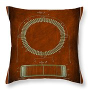 System Of Electrical Distribution Patent Drawing  Throw Pillow