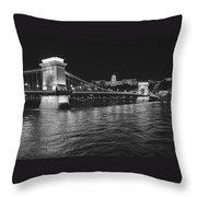Szechenyi Chain Bridge Budapest Throw Pillow