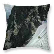 T-504102 1st Ascent On Mt. Shuksan Throw Pillow