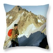T-504412 Walt Buck Sellers At Bivouac Site Throw Pillow