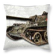 T-54 Soviet Tank W-bg Throw Pillow