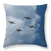 T-6 Texan Airplane Squad 1 Throw Pillow