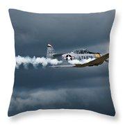 T-6 Texan Smoke On Throw Pillow