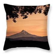 Mt. Hood At Sunset Throw Pillow