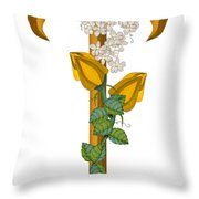 T Is For Treasures In Time Throw Pillow