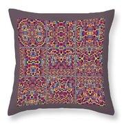 T J O D Mandala Series Puzzle 3 Variations 1-9 Throw Pillow