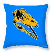T-rex Graphic Throw Pillow by Pixel  Chimp