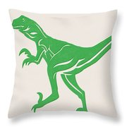 T-rex Throw Pillow by Linda Woods