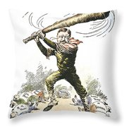 T. Roosevelt Cartoon, 1904 Throw Pillow