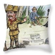 T. Roosevelt: Teddy Bear Throw Pillow