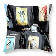 T Shirt Display Day Of Dead Throw Pillow