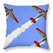 T6 Aerobatics Throw Pillow