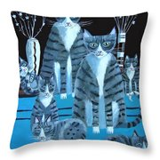 Tabby Family Throw Pillow