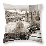 Tabernacle And Temple Throw Pillow