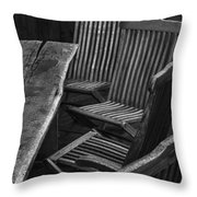 Table And Chairs Husavik Iceland 3767 Throw Pillow