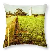 Table Cape Lighthouse Throw Pillow