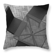 Table Chairs From Above Throw Pillow