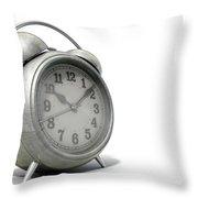 Table Clock Throw Pillow