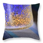 Table Decoration In Blue Throw Pillow