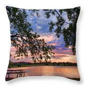Table For Four With A View Throw Pillow