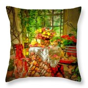 Table For Two In Ambiance Throw Pillow