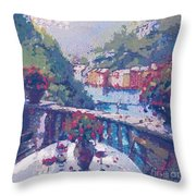 Table For Two In The Mix Throw Pillow