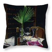 Table For Two A Night's Promise Throw Pillow
