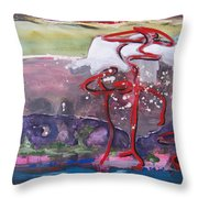Table Land3 Throw Pillow