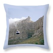 Table Mountain Cable Car Throw Pillow