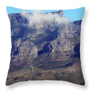 Table Mountain In The Clouds Throw Pillow