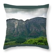 Table Mountain South Africa Throw Pillow