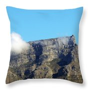 Table Mountain - Still Life With Blue Sky And One Cloud Throw Pillow