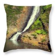 Table Mountain Waterfalls Throw Pillow