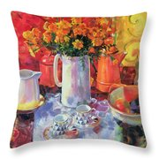 Table Reflections Throw Pillow