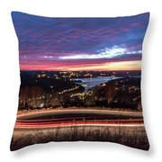 Table Rock Lake Night Shot 2 Throw Pillow