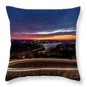 Table Rock Lake Night Shot Throw Pillow