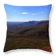 Table Rock Mountain From Caesars Head State Park In Upstate South Carolina Throw Pillow