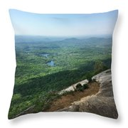 Table Rock Overlook Throw Pillow by Kelly Hazel
