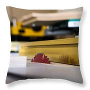 Table Saw Throw Pillow