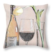 Table Setting For One Throw Pillow
