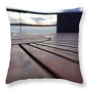 Table Texture Throw Pillow