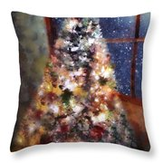 Tabletop Tannenbaum Throw Pillow