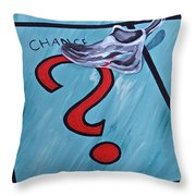 Tacking A Chance Two Throw Pillow
