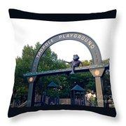 Tadpole Playground Boston Throw Pillow